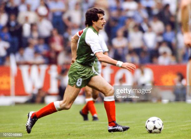 Ali Fergani of Algeria during the World Cup match between Germany RF and Algeria at El Molinon Gijon Spain on June 16th 1982