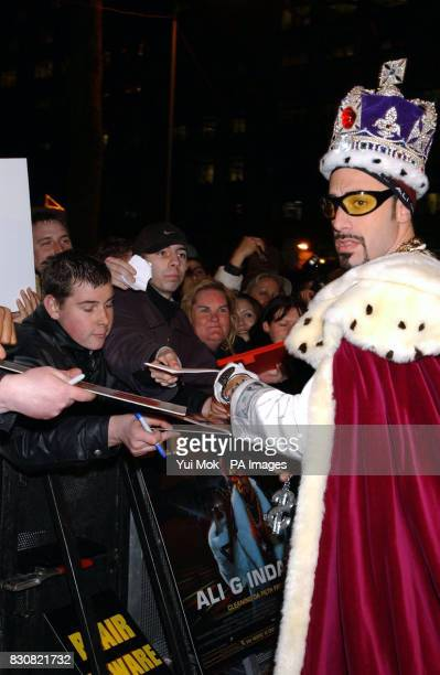 Ali G arriving at the Empire Cinema in London's Leicester Square for the premiere of Ali G InDaHouse