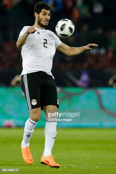 Ali Gabr of Egypt during the International Friendly match between Egypt v Portugal at the Letzigrund Stadium on March 23 2018 in Zurich Switzerland