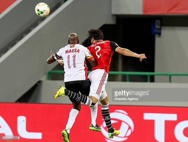 Ali Gabr of Egypt in action against Geoffrey Massa of Uganda during the African Cup of Nations 2017 Group D football match between Egypt and Uganda...
