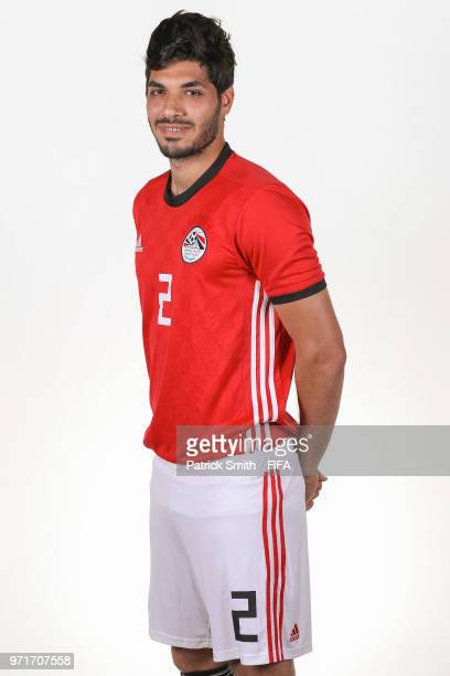 Ali Gabr of Egypt poses for a portrait during the official FIFA World Cup 2018 portrait session at The Local Hotel on June 11 2018 in Gronzy Russia