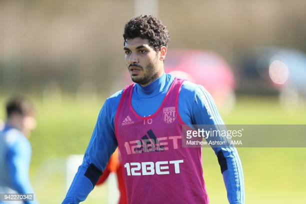 Ali Gabr of West Bromwich Albion during a West Bromwich Albion training session on April 5 2018 in West Bromwich England