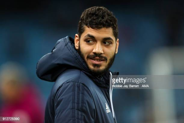 Ali Gabr of West Bromwich Albion during the Premier League match between Manchester City and West Bromwich Albion at Etihad Stadium on January 31...