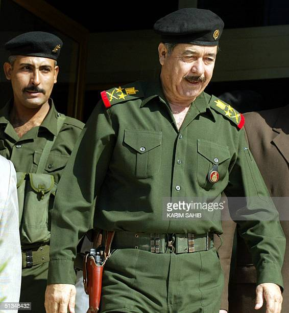Ali Hasan alMajid senior member of Iraq's ruling Revolution Command Council and Iraqi President Saddam Hussein's cousin leaves after attending a...