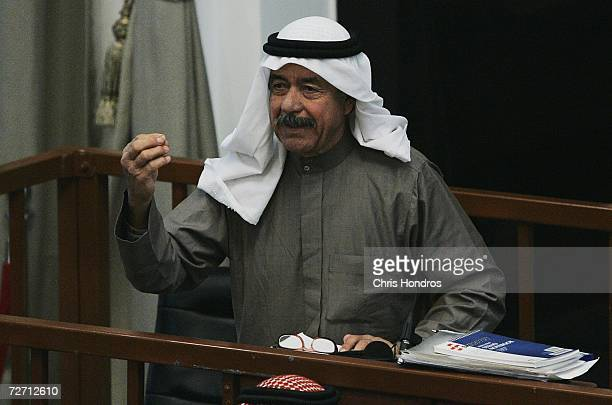 Ali Hasan alMajid speaks before the judge during the trial of Saddam Hussein and other codefendants in the 'Anfal' offensive against the Kurds on...
