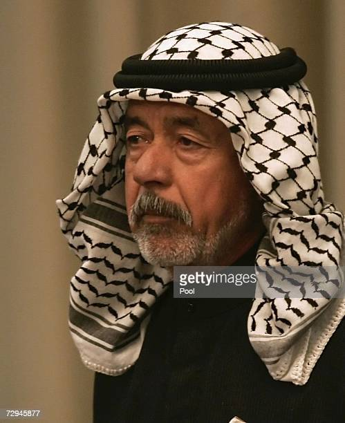Ali Hassan alMajid Saddam's cousin and alleged planner of Anfal also known as 'Chemical Ali' listens to prosecution evidence during the 'Anfal'...