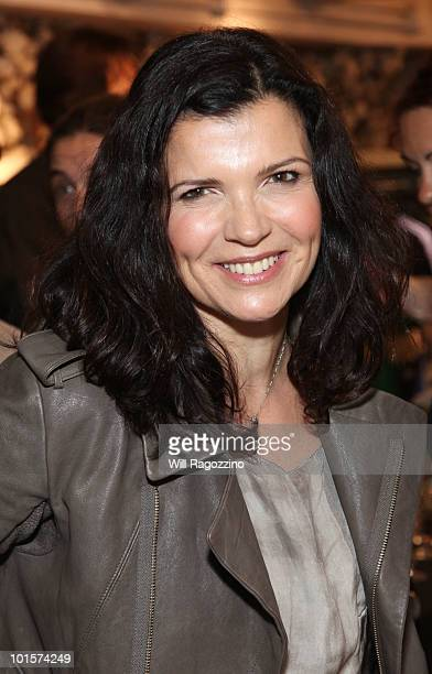 Ali Hewson activist and founder of EDUN hosts the EDUN PreFall 2010 Menswear Collection launch at Bloomingdale's 59th Street Store on June 2 2010 in...