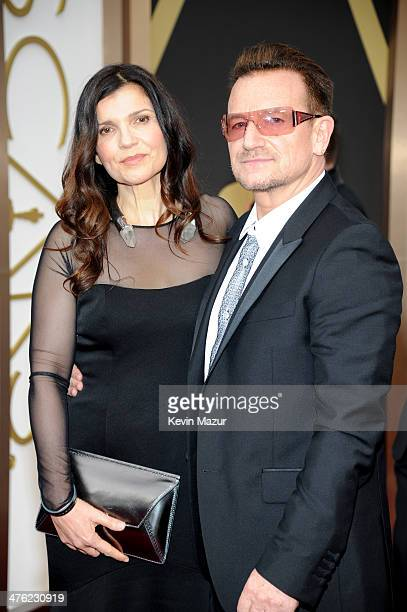 Ali Hewson and Bono attend the Oscars held at Hollywood Highland Center on March 2 2014 in Hollywood California