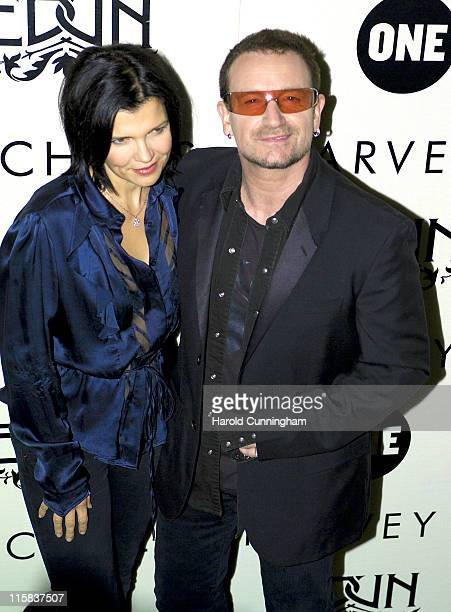 Ali Hewson and Bono during Edun One Launch Party at Harvey Nicols in London Great Britain