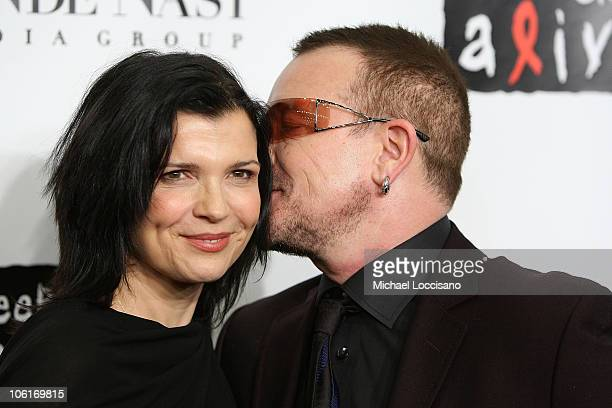 Ali Hewson and musician Bono attend 4th Annual Black Ball Concert For Keep A Child Alive at the Hammerstein Ballroom on October 25 2007 in New York...