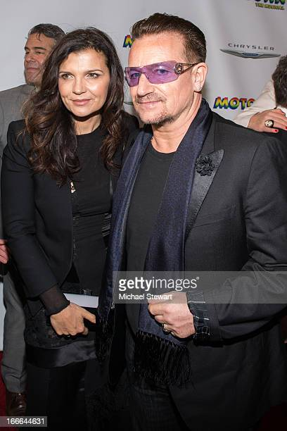 "Ali Hewson and musician Bono of U2 attend the Broadway opening night for ""Motown: The Musical"" at Lunt-Fontanne Theatre on April 14, 2013 in New York..."