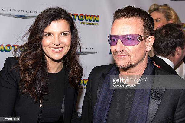 Ali Hewson and musician Bono of U2 attend the Broadway opening night for 'Motown The Musical' at LuntFontanne Theatre on April 14 2013 in New York...