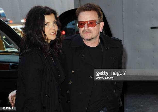Ali Hewson and U2 lead singer Bono are seen near the Ed Sullivan Theater on May 10 2010 in New York City