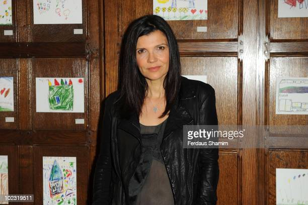 Ali Hewson attends photocall to launch fashion brands EDUN's new Kenya Kids Tees Collection at Liberty on June 23 2010 in London England EDUN have...
