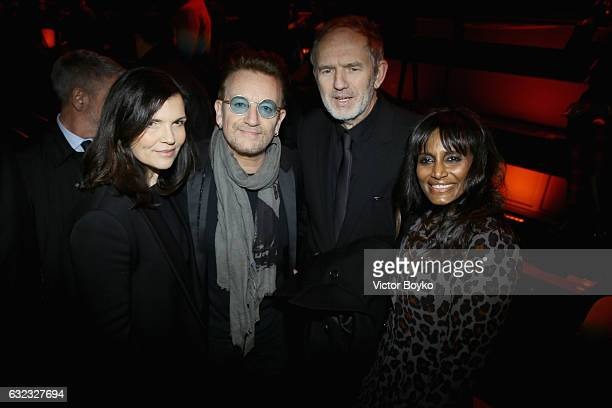 Ali Hewson Bono Anton Corbijn and Nimi Ponnudurai attends the Dior Homme Menswear Fall/Winter 20172018 show as part of Paris Fashion Week on January...