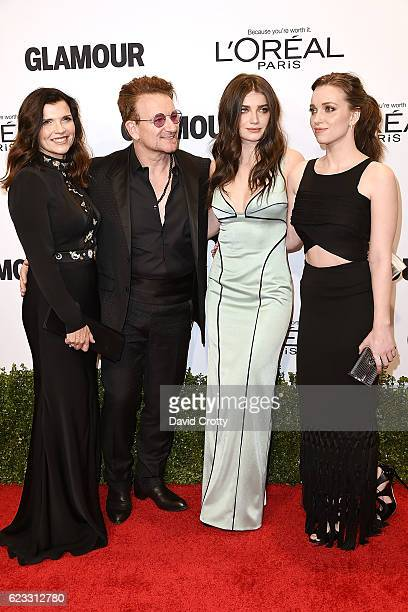 Ali Hewson Bono Eve Hewson and Jordan Hewson attend the Glamour Celebrates 2016 Women Of The Year Awards Arrivals at NeueHouse Hollywood on November...