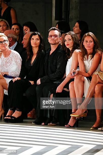 Ali Hewson Bono Jordan Hewson and Christy Turlington Burns are seen at the Edun fashion show during MercedesBenz Fashion Week Spring 2014 at Skylight...