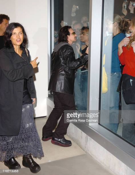 Ali Hewson Bono with fans during Anton Corbijn's 'U2 I' Opening at the Stellan Holm Gallery at Stellan Hom Gallery in New York City New York United...
