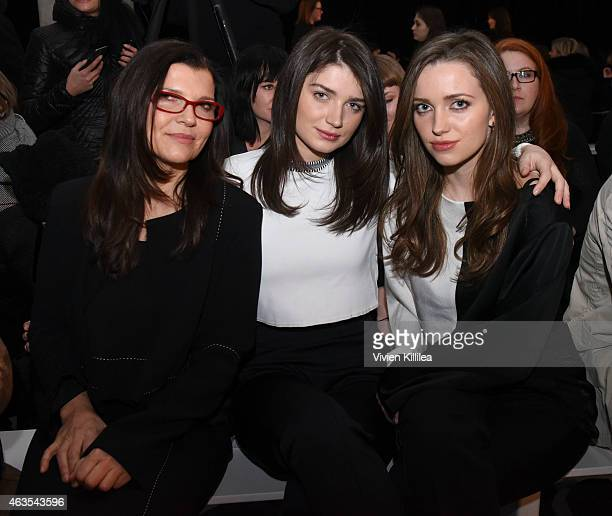 Ali Hewson Eve Hewson and Jordan Hewson attend the Edun show during MercedesBenz Fashion Week Fall 2015 at Skylight Modern on February 15 2015 in New...