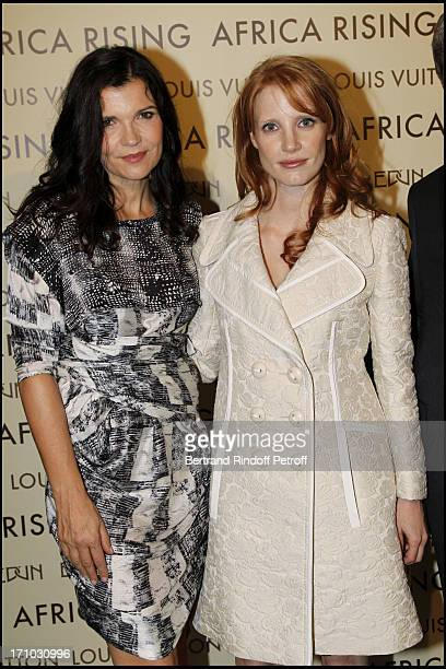 Ali Hewson Jessica Chastain at Every Journey Began In Africa Party For The Exhibition Africa Rising And The Discovery Of The Collaboration Between...