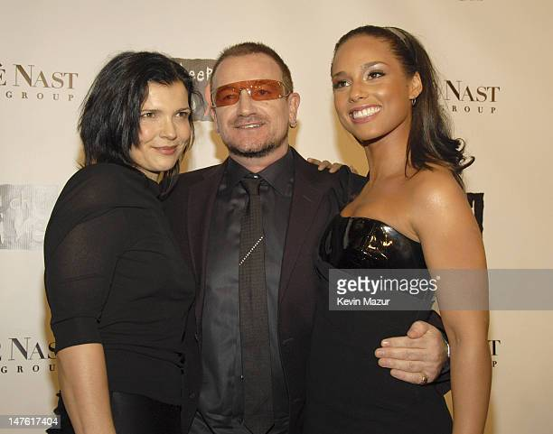 Ali Hewson Musician Bono and Musician Alicia Keys arrive at Conde Nast Media Group's 4th Annual 'Black Ball' Concert for 'Keep A Child Alive' at...