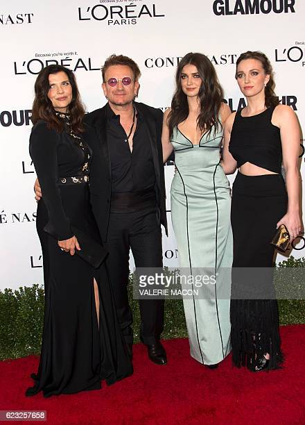 Ali Hewson musician Bono Eve Hewson and Jordan Hewson attend 2016 the Glamour Women Of The Year Awards in Hollywood California on November 14 2016 /...