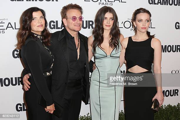 Ali Hewson musician Bono Eve Hewson and Jordan Hewson attend Glamour Women Of The Year 2016 at NeueHouse Hollywood on November 14 2016 in Los Angeles...