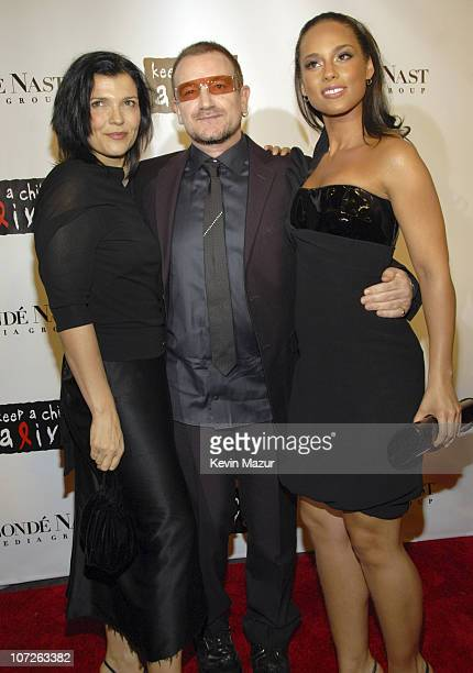 Ali Hewson Musician Bono Musician Alicia Keys arrive at Conde Nast Media Group's 4th Annual 'Black Ball' Concert for 'Keep A Child Alive' at...
