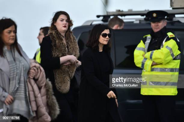 Ali Hewson the wife of Bono from U2 arrives outside St Ailbe's parish church in Ballybricken ahead of Dolores O'Riordan's funeral on January 23 2018...