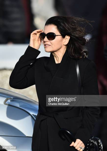 Ali Hewson wife of Bono from U2 attends the funeral of Dolores O'Riordan at St Ailbe's Church Ballybricken on January 23 2018 in Limerick Ireland The...
