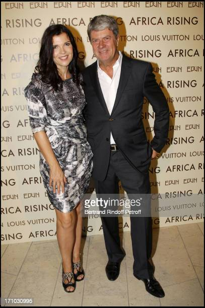Ali Hewson Yves Carcelle at Every Journey Began In Africa Party For The Exhibition Africa Rising And The Discovery Of The Collaboration Between Edun...