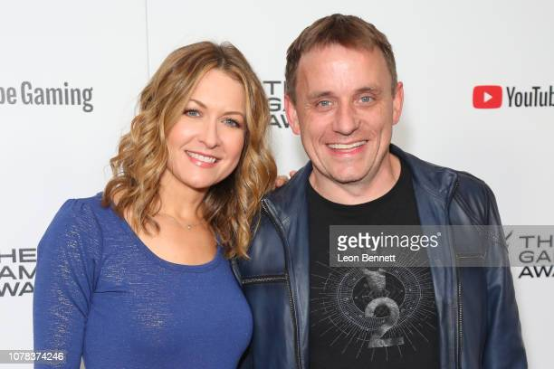 Ali Hillis and Steve Cotton attends The Game Awards 2018 Arrivals at Microsoft Theater on December 06 2018 in Los Angeles California