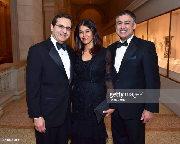 Ali Hirji Naznin Khimji and Karim Rehmat attend The Aga Khan Foundation Gala at The Metropolitan Museum of Art on November 15 2017 in New York City