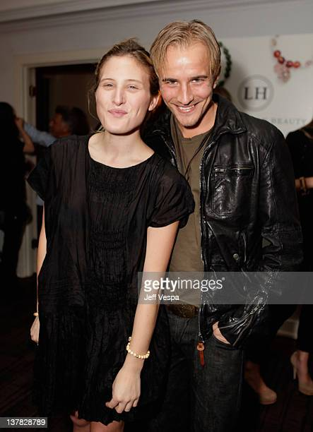 Ali Hoffman and actor Jesse Johnson attend Lisa Hoffman Fragrance Jewelry Event 2012 at Chateau Marmont on January 27 2012 in Los Angeles California