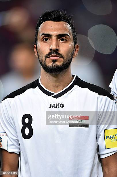Ali Husni of Iraq poses during the 2018 FIFA World Cup Qualifier match between Thailand and Iraq at Rajamangala Stadium on September 8 2015 in...