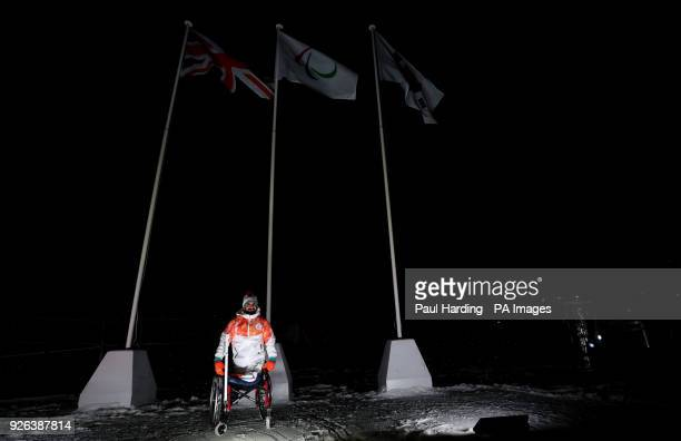 Ali Jawad during the Paralympic Heritage Flame Lighting Ceremony ahead of the PyeongChang 2018 Winter Paralympic Games at the Stoke Mandeville...