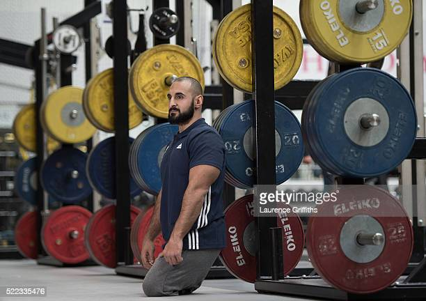 Ali Jawad of Paralympics GB Powerlifting Team poses for a portrait during the Paralympic Team Announcement at Loughborough University on April 18...