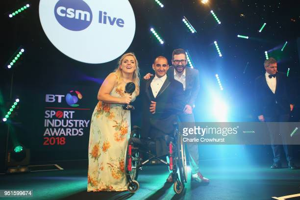 Ali Jawad presents the Event or Competition Sponsorship of the Year award in association with CSM Live to Dimension Data during the BT Sport Industry...