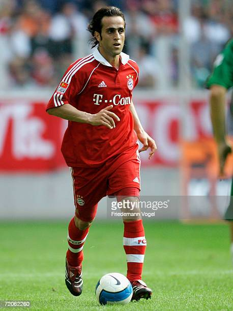 Ali Karimi of Bayern in action during the Bundesliga match between VFL Wolfsburg and Bayern Munich at the Volkswagen Arena on September 30 2006 in...