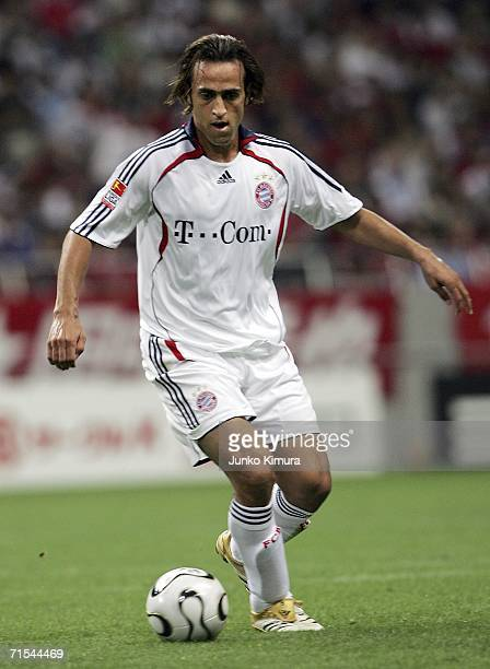 Ali Karimi of Bayern Munich in action during the friendly match between Urawa Red Diamonds All Stars and Bayern Munich All Stars on July 31 2006 in...