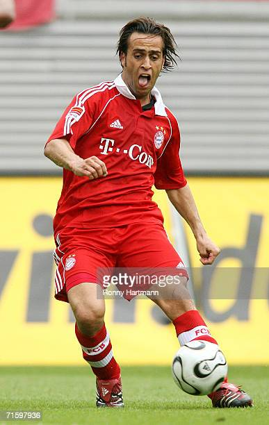Ali Karimi of Bayern Munich in action during the Liga Cup Final between Bayern Munich and Werder Bremen at the Zentral Stadium on August 5 2006 in...