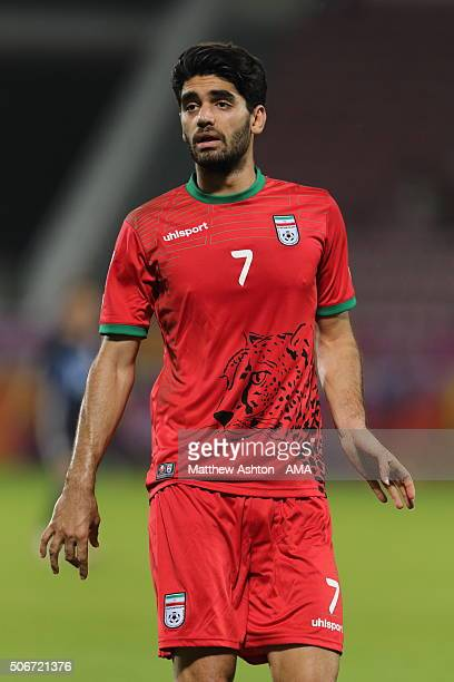 Ali Karimi of Iran during the AFC U23 Championship quarter final match between Japan and Iran at the Abdullah Bin Khalifa Stadium on January 22 2016...