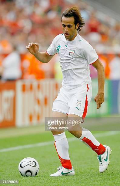 Ali Karimi of Iran in action during the FIFA World Cup Germany 2006 Group D match between Portugal and Iran played at the Stadium Frankfurt on June...