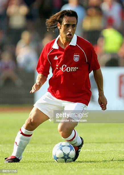 Ali Karimi of Munich holds the ball during the friendly match between SV Dessau 05 and Bayern Munich on July 13 2005
