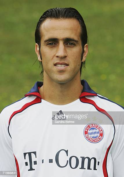 Ali Karimi poses during the Bundesliga 1st Team Presentation of FC Bayern Munich at Bayern's training ground Saebener Strasse on August 2 2006 in...