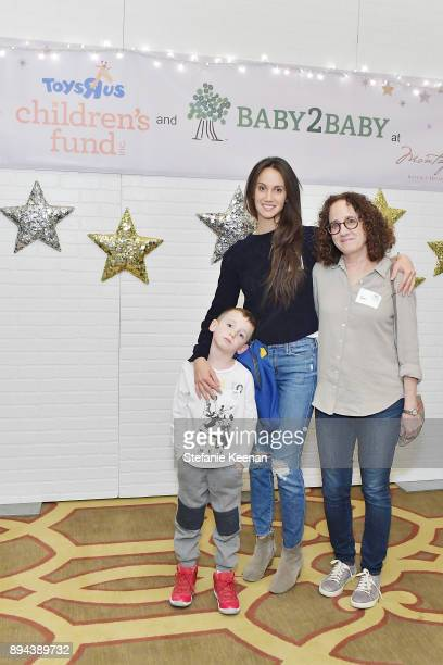 Ali Kay and family attend The Baby2Baby Holiday Party presented by Toys'R'Us at Montage Beverly Hills at Montage Beverly Hills on December 17 2017 in...