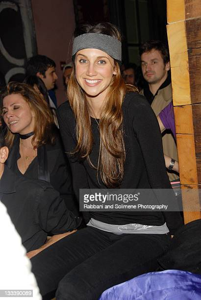 Ali Kay attends a cocktail party to celebrate MercedesBenz Fashion Week Fall 2008 at the Gramercy Hotel on February 4 2008 in New York City