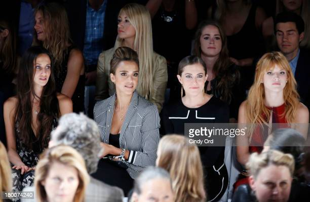 Ali Kay Jessica Alba Allison Williams and Bella Thorne attend the Diane Von Furstenberg fashion show during MercedesBenz Fashion Week Spring 2014 at...