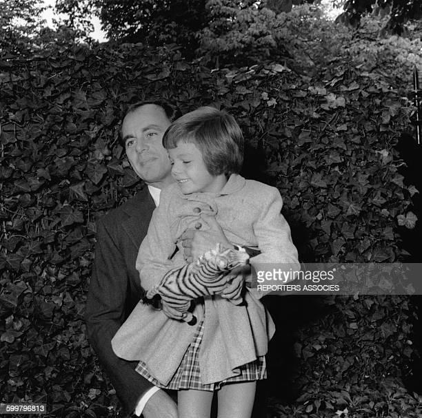 Ali Khan et sa fille Yasmine Aga Khan circa 1950