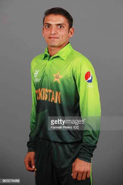 Ali Khan poses during the Pakistan ICC U19 Cricket World Cup Headshots Session at Rydges Christchurch on January 7 2018 in Christchurch New Zealand
